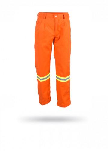 Pantalón de gabardina naranja