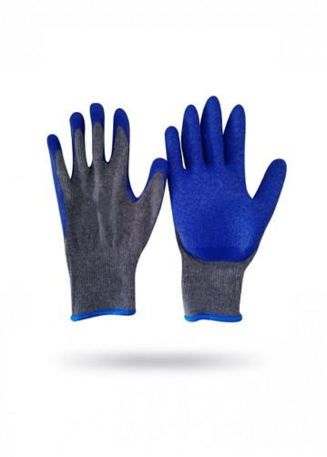 Guante Lanilla Goma Flex Azul