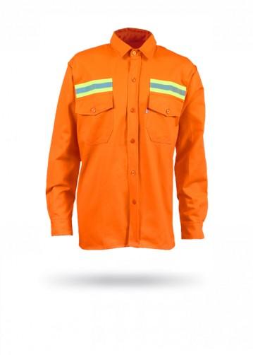Camisa gabardina naranja